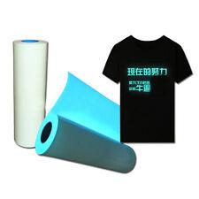 0.5X0.5M Blue Glow In The Dark Vinyl  Film Heat Press Transfer Vinyl for T-shirt