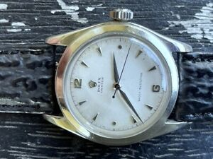 1950's Rolex Oyster 6082 Stainless Steel Cal. 710 Clean Original Dial 34mm RUNS