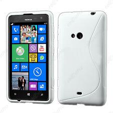 Accessoire Housse Etui Coque Souple Silicone Motif S Line Blanc Nokia Lumia 625