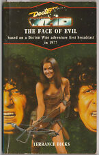 RARE: Doctor Who [and] The Face of Evil. Virgin blue spine. Target books.
