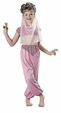 HAREM Girl Small Kids Girls Pink Arabian Night Fancy Dress Costume Outfit Party