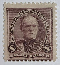 Travelstamps: 1890-93 US Stamps Scott #225  Mint, MOGH, 8 cents, Sherman