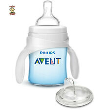 AVENT Trainer or Sippy Cup, 5 oz, blue, w/ 1 spout & 1 medium flow nipple