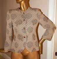 Giorgio Armani Le Collezioni Italy sz 42 /8 Beige Brown Floral Blazer Jacket