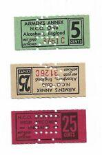 Airmens Annex club Coupons - 2x 25 cents 1x 5 cents- Joelnumismatics- (1)