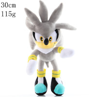 """New Silver Sonic Hedgehog Soft Plush Toys Stuffed Dolls Lovely Gifts 12""""/30cm"""