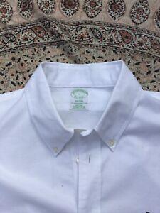 BROOKS BROTHERS - White - Supima Cotton - Button Cuff - MILANO - Shirt - L
