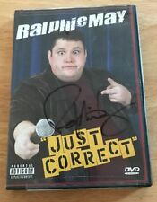 Ralphie May - Just Correct (DVD, 2004) + Insert! Autograph Hand Signed Comedian