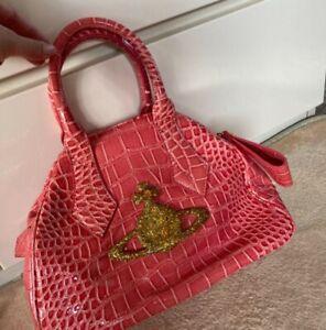 Vivienne Westwood Ladies Orb Mini Pink Boston Bag