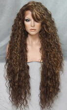 Extra Long Wig Lace Front Full Spanish Waves Brown mix Heat OK  WBSM 8.27.613