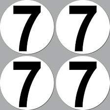 4 Aufkleber Sticker Nummer Zahl Startnummer 7 Racing Kart Gokart Auto Rennsport
