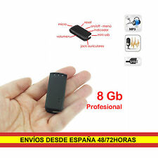 Grabadora voz 8GB espia Microfono integrado alta calidad Reproductor Lector MP3