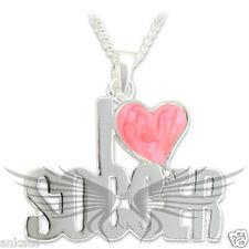 Heart Shaped Epoxy Silver Plated I LOVE SOCCER Pendant OT016