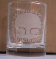 San Diego Zoo Wild Animal Park Frosted Elephants Tree Glass Souvenir Shot Glass