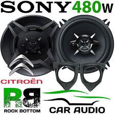 Citroen C3 2002-2005 SONY 13cm 480 Watts 3 Way Rear Side Shelf Car Speaker Kit