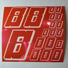 PINK CHROME w/White #8's Decal Sticker Sheet DEFECTS  1/8-1/10-1/12 RC Mo BoxD