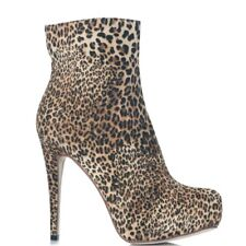 Prema Platform Stiletto Ankle Booties Leopard Animal Print US8.5