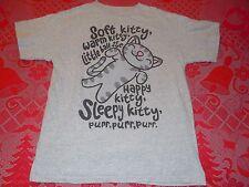 The Big Bang Theory Soft Warm Little Fur Happy Sleepy Kitty Purr T-Shirt Mens M