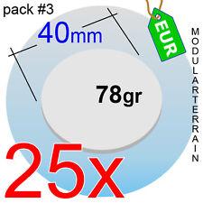 25x ROUND CLEAR ACRYLIC BASE 40mm CIRCLE DISC CIRCULAR METACRILATO SOCLE ROND