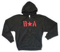 Bryan Adams Red Star Mens Black Zip Hoodie Sweatshirt New Official Adult