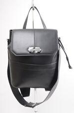Carven Full Joy Large black leather convertible backpack handbag purse NEW $770