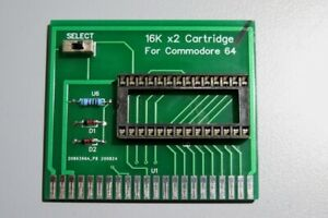 16k x2 cartridge for Commodore 64, for use with the 27C256 eprom, DIY cartridge.
