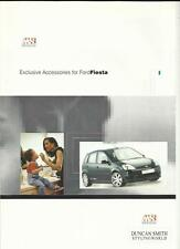 FORD MS DESIGN FIESTA EXCLUSIVE ACCESSORIES SALES BROCHURE @ 2000