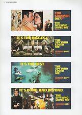 "2002 Vintage JAMES BOND 007 ""THE SPY WHO LOVED ME"" USA MINI POSTERS Art Litho"