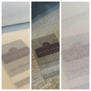 "100% Cotton Organdie stiff lightweight fabric used for curtain & lining 43"" M689"