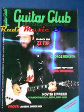 rivista GUITAR CLUB 12/1986 ZZ Top George Benson Robert Frip  No cd