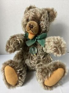 """Hermann Teddy Original Jointed, 14"""" Frosted Brown"""