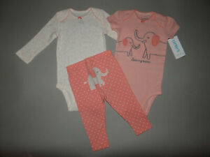NWT, Baby girl clothes, 6 months, Carter's 3 piece set/   ~SEE DETAILS ON SIZE~~