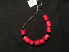 Red BAMBOO CORAL BEADS  9 Beads New USA Seller   (E)