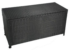 Auflagenbox aus Polyrattan, Terrassenaufbewahrung, Polsterbox, AY 454