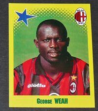 MISTER GEORGE WEAH AC MILAN ROSSONERI CALCIO PANINI FOOT 98 FOOTBALL 1997-1998
