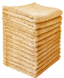 %100 Cotton Washcloths (12-Pack, 12 x 12 inches) by Goza Towels