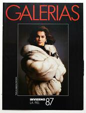 GALERIAS PRECIADOS Winter Fur Collection 1987 Catalog Lookbook - Pelze Fourrure