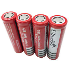 4pcs Flat Top 18650 6800mAh 3.7V Li-ion Batería Recargable Para Linterna Lamp