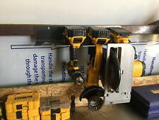Cordless Tool Rack 10ga Steel Raw Finish Work Home Shop Dewalt Milwaukee Other