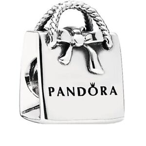 New Genuine PANDORA Shopping Bag Purse Charm Sterling Silver S925 ALE 791184