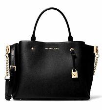 Michael Kors Bag Handbag Arielle Md Satchel Leather Black New 30f9gi5s2l