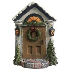 New Christmas Fairy Door/Large Winter Fairy Door /Stone & Wood Effect - 18cm