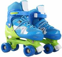 Pink Children Kids Roller Skates Adjustable Double Row Inline Skate W/ 4 Wheel