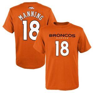 "Peyton Manning NFL Denver Broncos ""Mainliner"" Orange Jersey T-Shirt Boys (4-7)"