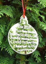 Christmas Hanging Bauble Decoration - Our 2020 - Momento Of The Year  NHS Gift