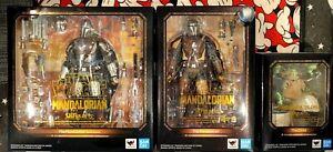 S.H Figuarts Star Wars : The Mandalorian , Beskar Armor Mandalorian , & Child
