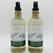 2 Bath & Body Works Aromatherapy Stress Relief Eucalyptus Spearmint Pillow Mist