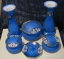 Lovely unmarked porcelain dressing table set with 6 items in total