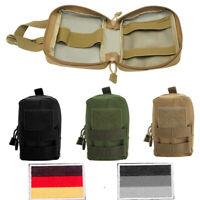 3 Stück Seitentaschen +2 Patches für Taktisches Hundegeschirr Hundetraining K9