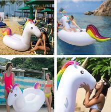 Giant Inflatable Unicorn Water Float Raft Summer Sea Swim Pool Lounger Beach Fun